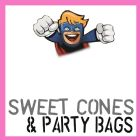 SWEET CONES & PARTY BAGS