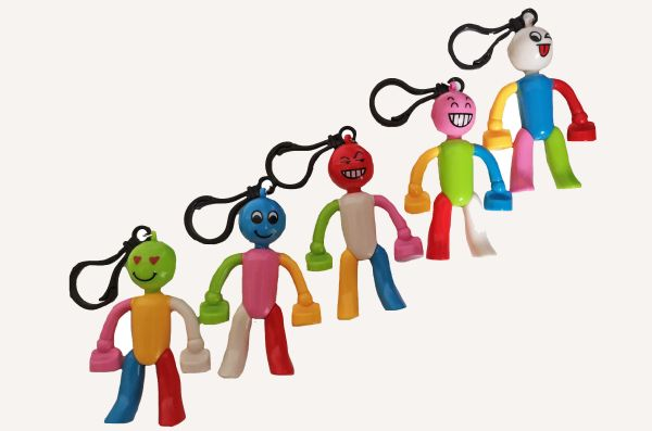 People Keyrings / Clip Ons